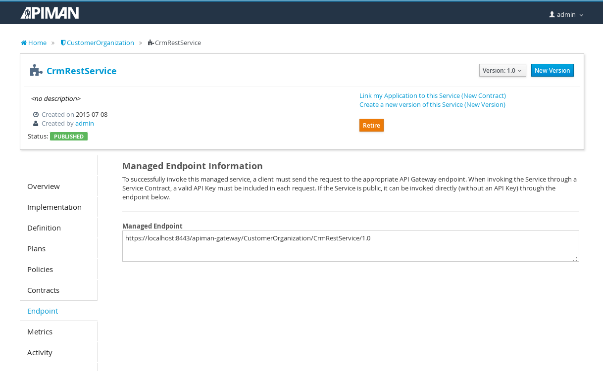 Image: Managed Service Endpoint